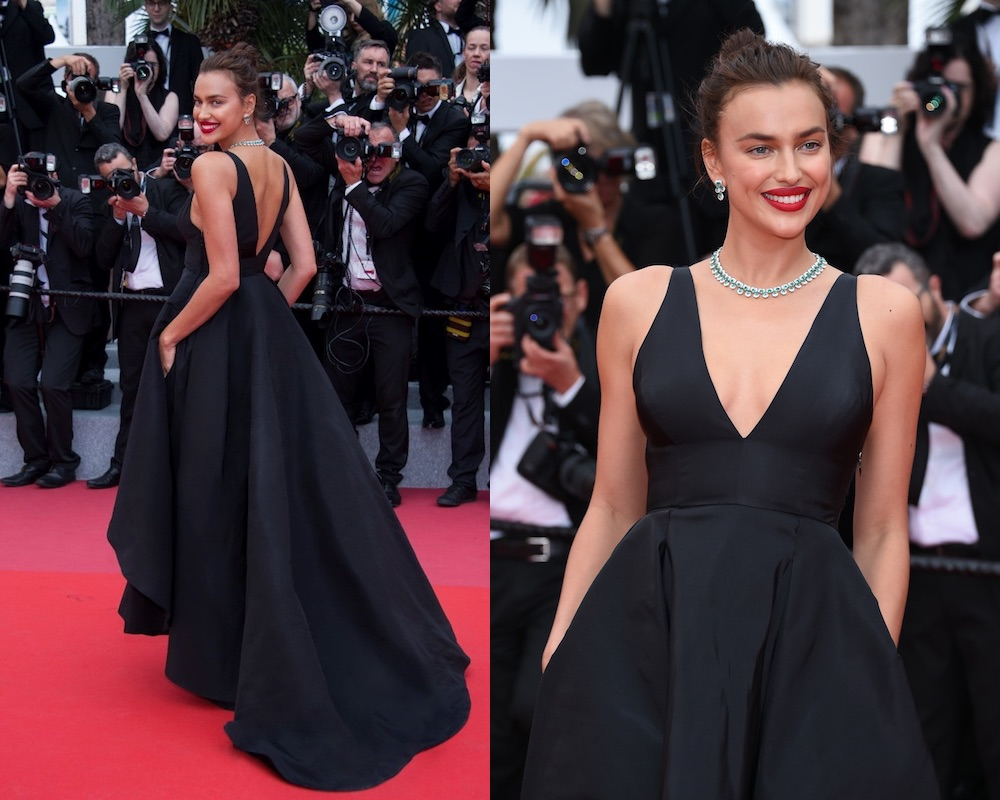acconciatura red carpet 2018-Irina Shayk