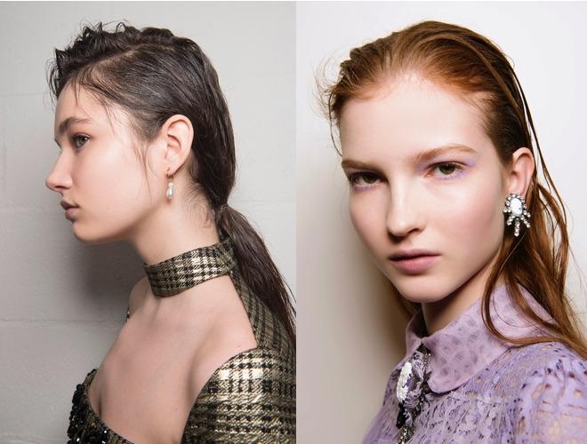 capelli effetto bagnato inverno 2019
