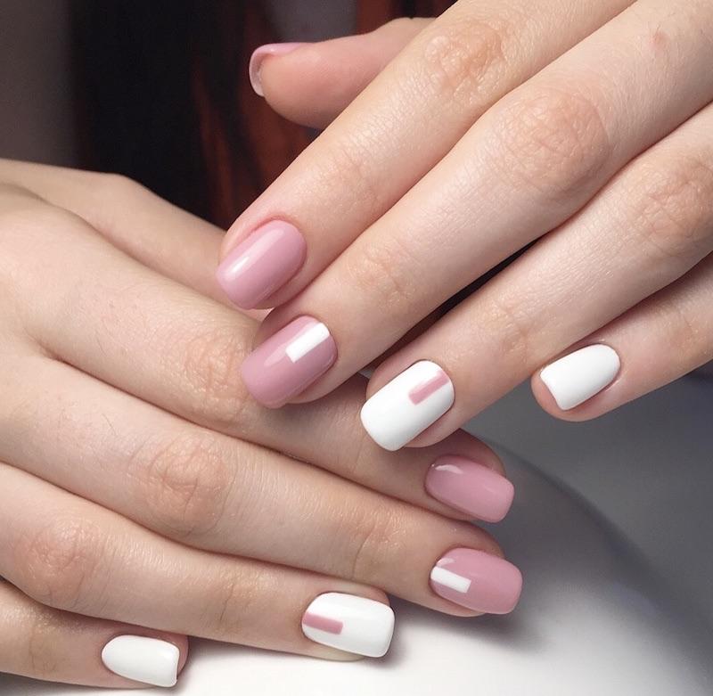 nail art estate 2018-bianca e rosa