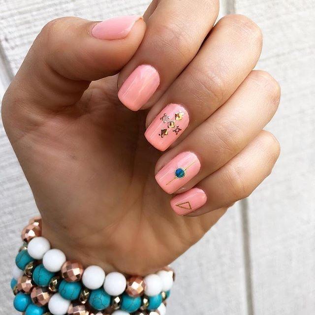 nail art estate 2018-unghie squadrate