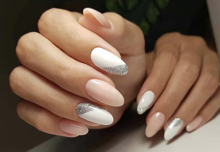 french manicure diagonale inverno 2019