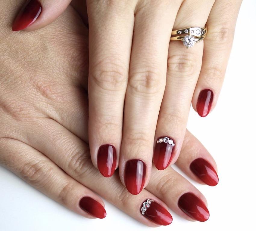 nail art natale 2018- rosse