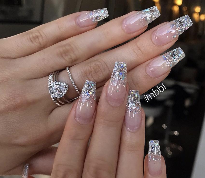 unghie per natale 2018 glitter