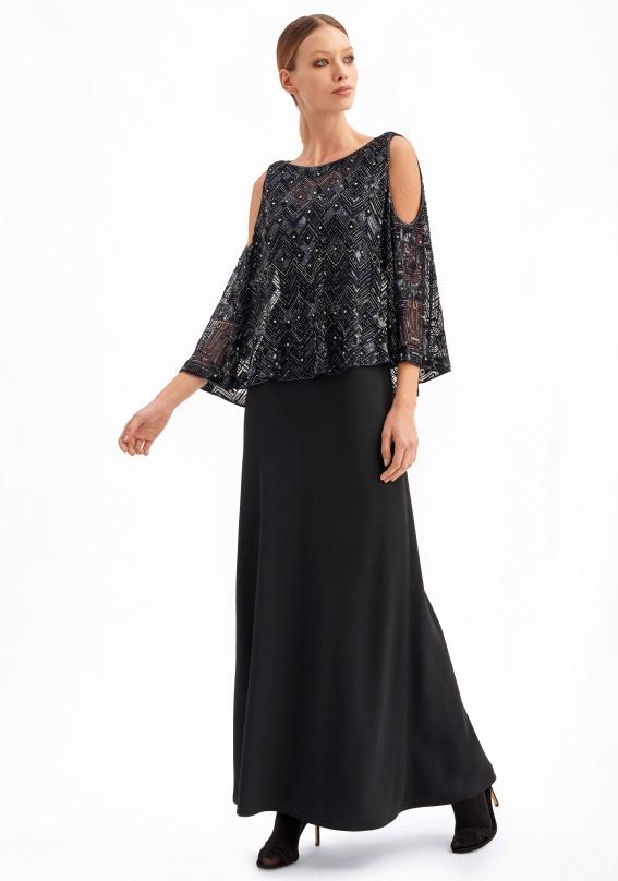 luisa spagnoli abito elegante inverno 2019 2020